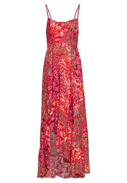 Free People - FOREVER YOURS SMOCKD SLIP - Maxi dress - red