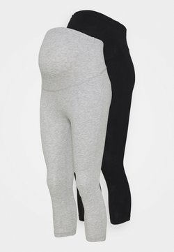 Anna Field MAMA - 2 PACK - Legging - black/light grey
