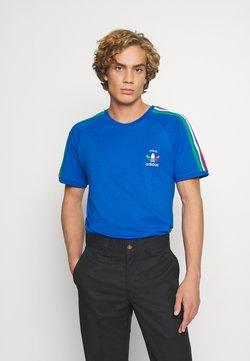 adidas Originals - STRIPES SPORTS INSPIRED SHORT SLEEVE TEE UNISEX - T-shirt z nadrukiem - bright royal