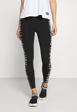 DKNY - HIGH WAIST ZEBRA PLACED PRINT - Tights - white