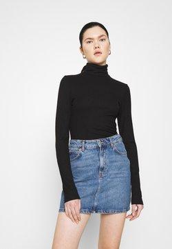 Monki - ELIN  - Langærmede T-shirts - black