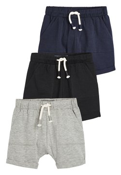 Next - 3 PACK LIGHTWEIGHT SHORTS - Shorts - black
