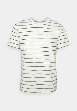 Casual Friday - THOR STRIPED WITH STRUCTURE - T-shirt con stampa - ecru