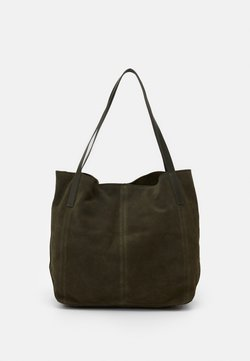 Anna Field - LEATHER - Tote bag - khaki