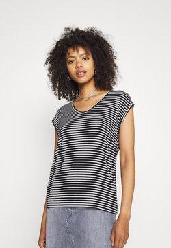 Pieces - PCBILLO NEW TEE - T-Shirt print - black/bright white