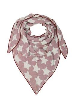 Zwillingsherz - Tuch - light pink/white