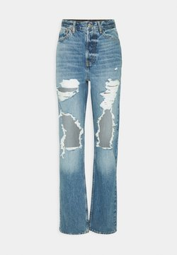 Topshop Tall - DESTROY DAD - Jeans Relaxed Fit - blue