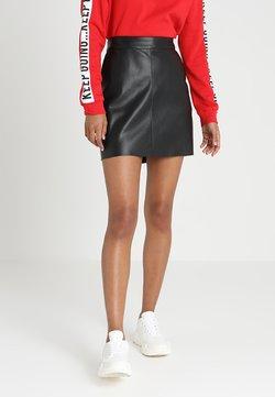 Vero Moda - VMYOURS BUTTER SHORT SKIRT - Mini skirt - black