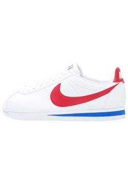 Nike Sportswear - CLASSIC CORTEZ LEATHER - Matalavartiset tennarit - white/varsity red/varsity royal