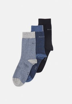 Marc O'Polo - SOCKS 3 PACK - Socken - navy