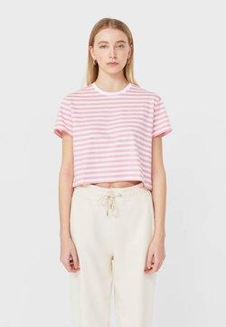Stradivarius - T-Shirt print - pink