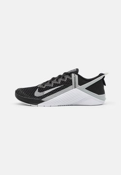 Nike Performance - METCON 6 FLYEASE UNISEX - Kuntoilukengät - black/light smoke grey/white