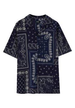 PULL&BEAR - MIT PAISLEYPRINT - Hemd - dark blue