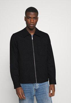 Weekday - AHMED PINSTRIPE OVERSHIRT - Summer jacket - black