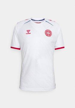 Hummel - DÄNEMARK DBU 20/21 AWAY - Print T-shirt - white