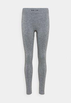 NU-IN - SEAMLESS LOGO HIGH WAIST LEGGINGS - Tights - grey