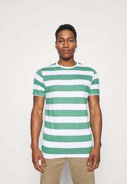 Brave Soul - T-shirt z nadrukiem - jade green/ white