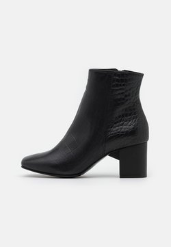 Selected Femme - SLFZOEY CROCO BOOT  - Stiefelette - black