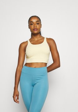 Nike Performance - LUXE CROP TANK - T-shirt de sport - pale vanilla/coconut milk