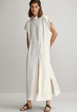 Massimo Dutti - MIT SEITLICHEN KNÖPFEN - Sukienka koszulowa - white