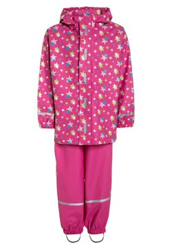 Playshoes - REGENANZUG STERNE ALLOVER SET  - Veste imperméable - pink