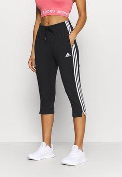 adidas Performance - Pantalon 3/4 de sport - black/white