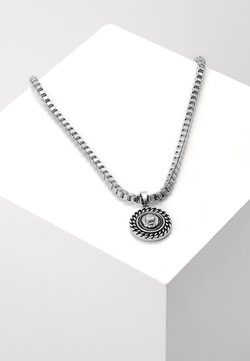 Wild For The Weekend - CHAIN AND LION HEAD NECKLACE - Necklace - silver-coloured