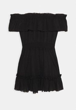 Wolf & Whistle - BARDOT FRILL BEACH DRESS - Accessoire de plage - black