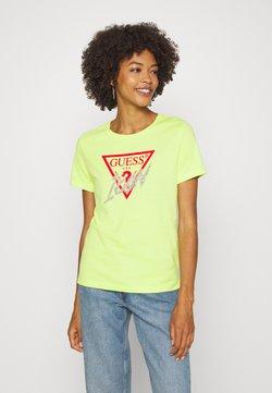 Guess - ICON  - Print T-shirt - yellow glow