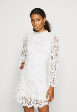 Never Fully Dressed - WHITE GEORGIA MINI DRESS - Korte jurk - white