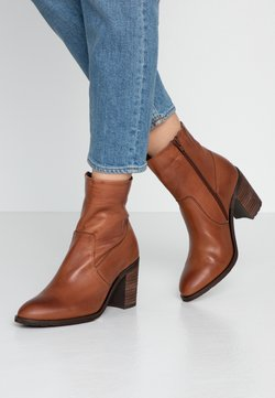 Bianco - BIACOFIA LEATHER BOOT - Ankle Boot - cognac