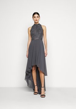 Lace & Beads Tall - AVERY HIGH LOW DRESS - Vestido de fiesta - charcoal