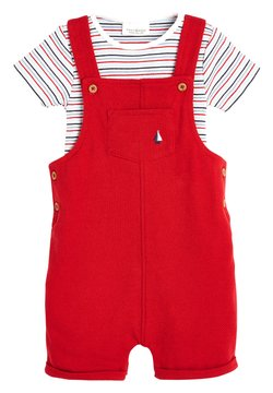 Next - RED DUNGAREES AND BODYSUIT SET (0MTHS-2YRS) - Body - red