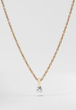 DIAMANT L'ÉTERNEL - NATURAL DIAMOND PENDANT 0.09CARAT SOLITAIRE DIAMOND PENDANT 9KT WHITE GOLD DIAMOND JEWELLERY GIFTS FOR WOMENS - Halskette - gold-coloured