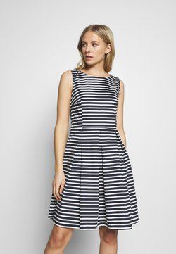 TOM TAILOR - DRESS FESTIVE FEMININE - Vestito estivo - navy/offwhite
