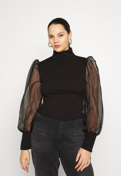Missguided Plus - DOBBY - Blouse - black