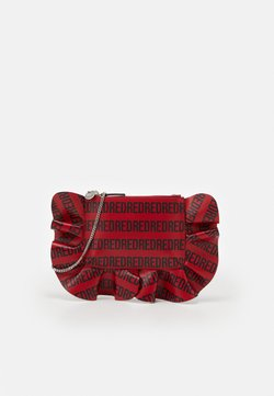 Red V - LOGO RUFFLE CROSSBODY - Torba na ramię - red kiss/nero