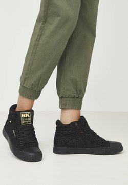 British Knights - DEE - Sneaker high - black leopard/gold/black