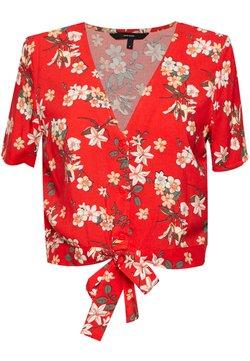 Vero Moda - VMSIMPLY EASY SHIRT TIE TOP - Bluse - red