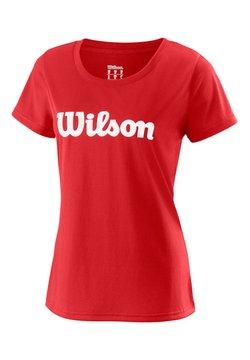 """Wilson - WILSON DAMEN TENNISSHIRT """"UWII SCRIPT TECH TEE"""" KURZARM - T-Shirt print - red"""