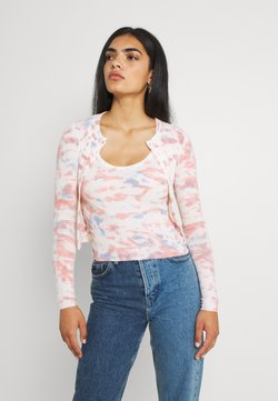 BDG Urban Outfitters - TIE DYE RIBBED TWIN SET - Top - pink