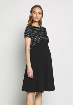 Dorothy Perkins Maternity - MATERNITY SPOT DRESS - Jerseyklänning - black