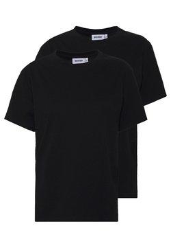 Weekday - ALANIS 2 PACK - T-shirts - black