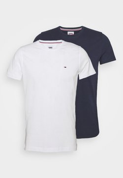 Tommy Jeans - CNECK TEES 2 PACK - T-shirt basique - white/dark blue