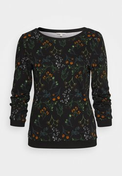 TOM TAILOR DENIM - SWEATER WITH PRINT - Sweatshirt - black