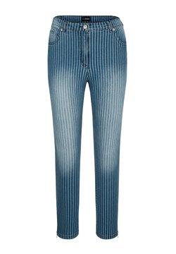 MIAMODA - Jeans Slim Fit - blau/weiß