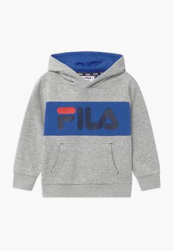 Fila - BEN LOGO HOODY UNISEX - Huppari - light grey/dazzling blue