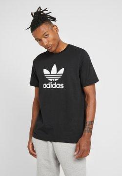 adidas Originals - TREFOIL UNISEX - Printtipaita - black