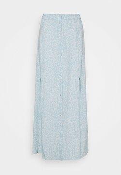 Miss Selfridge Petite - JULIA BUTTON SOWN MAXI SKIRT - Maxi skirt - blue