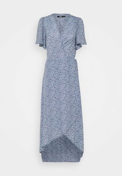 Missguided Tall - HIGH LOW DRESS FLORAL - Maxikleid - blue